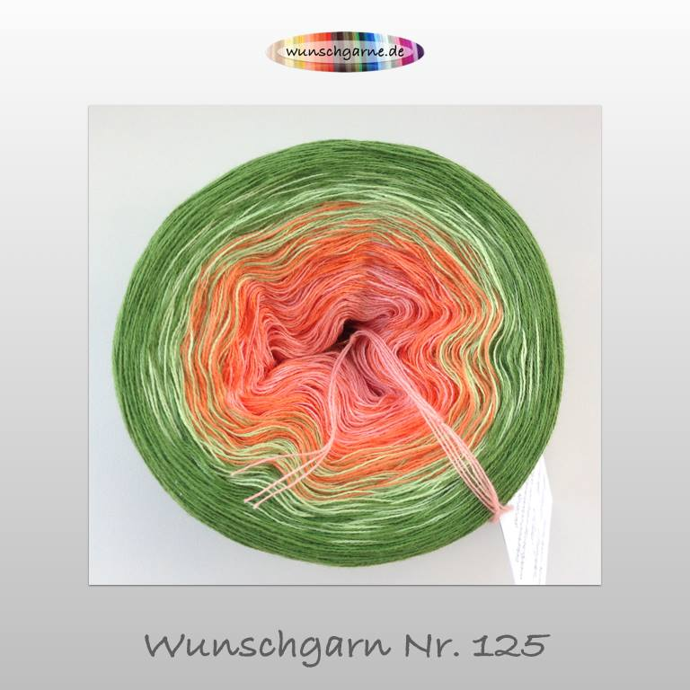 125-Aprikose - Orange - Limette - Gras - 3-fach