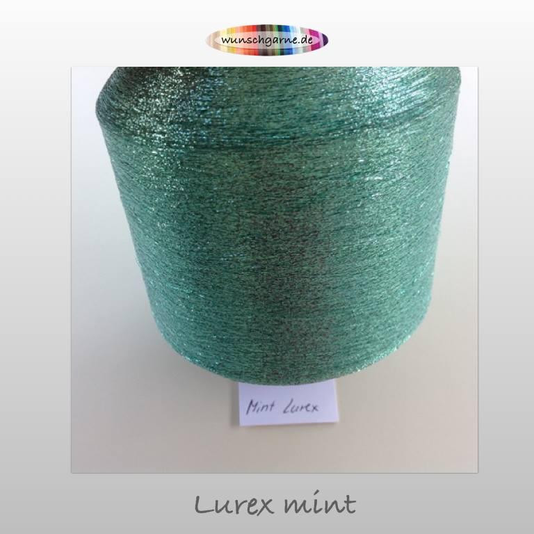lurex mint / lurex mentolová
